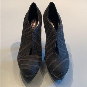 Carlos Santana Fierce Grey Fabric Heels